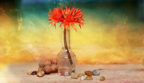 flower dekoblume stones