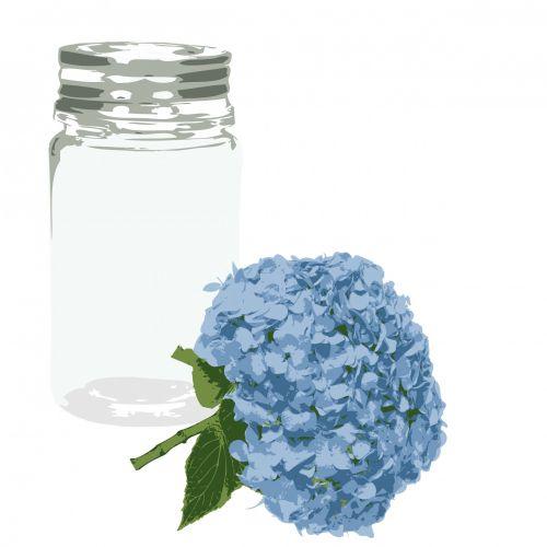 Flower & Glass Jar