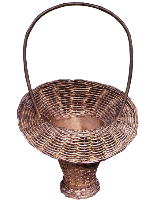 flower basket cane handicraft