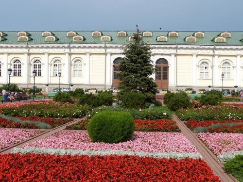 flower bed moscow russia