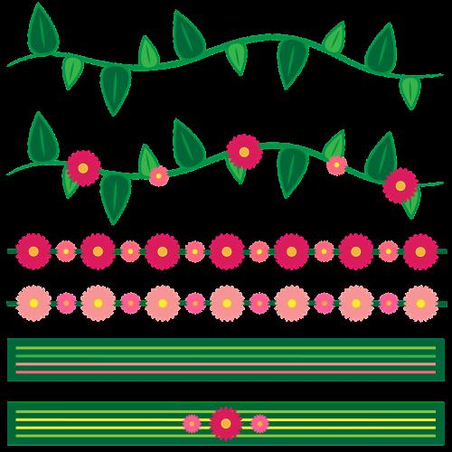 flower border border frame