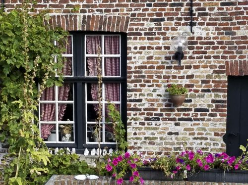 Flower Box In Bruges, Belgium