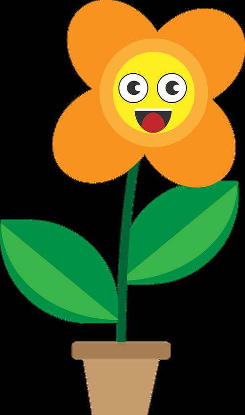 flower cartoon  smileys  cartoon flowers clipart