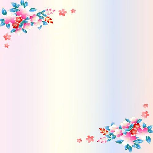 flower digital paper  scrapbooking paper  plum blossom