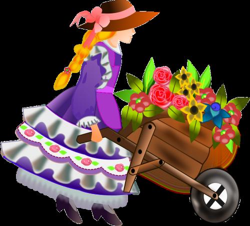 flower girl girl woman