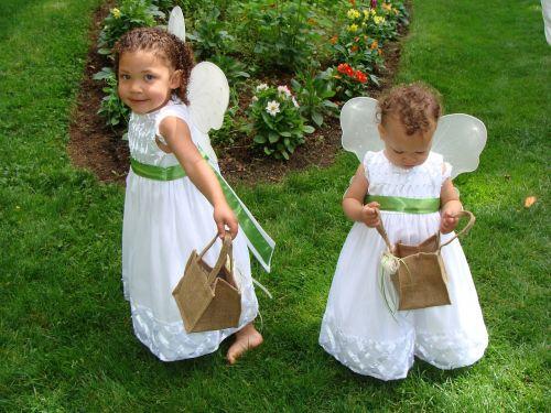 flower girls angles wedding