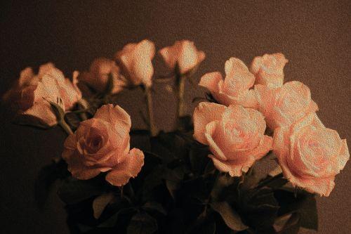 naftos & nbsp, dažymas, menas, menininkas, gėlė, gėlės, gamta, valentine, gėlė, Tapyba aliejiniais dažais