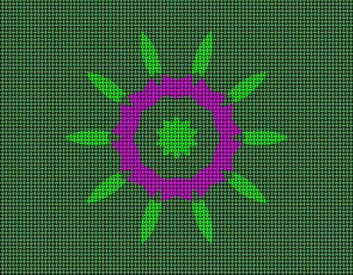 flower pattern multi colored design