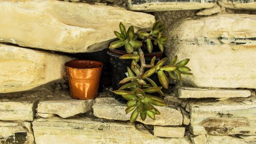 flower pot wall stone
