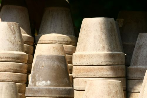 flower pots clay pots gardening