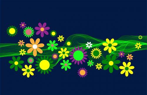 flower power flowers ornament