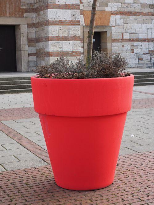 flowerpot plus size red