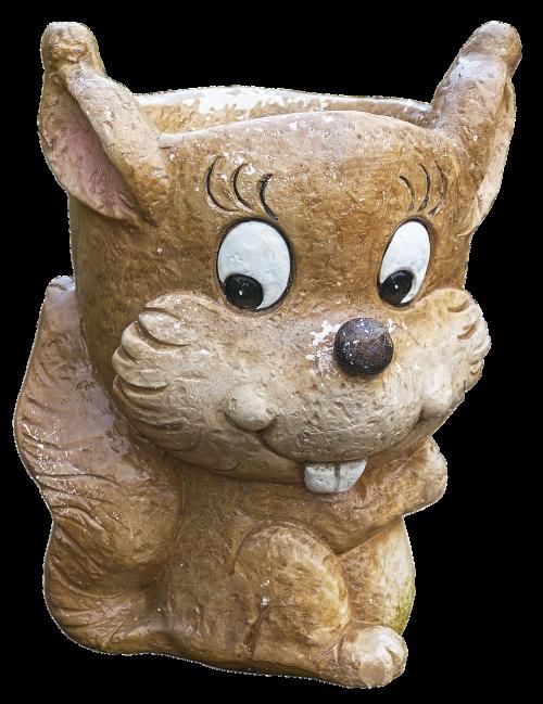 flowerpot ceramic rodent