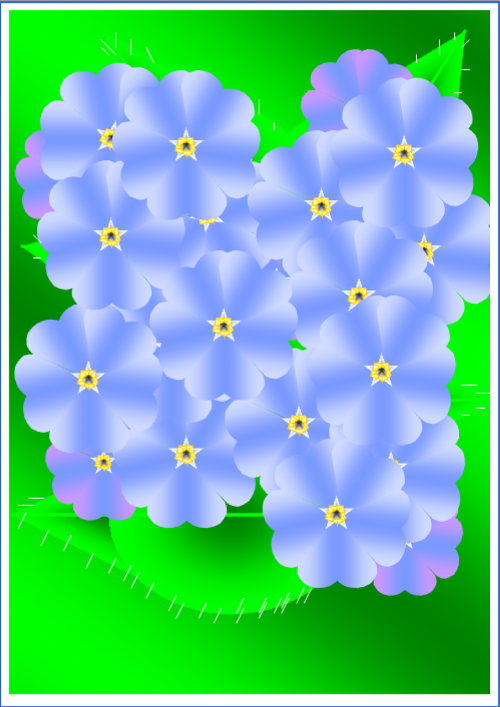 flowers blue pattern