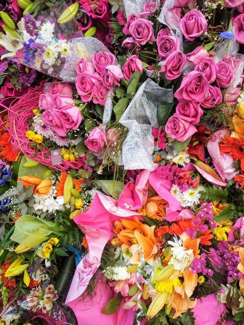 flowers bouquet roses