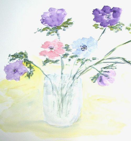 flowers vase bouquet