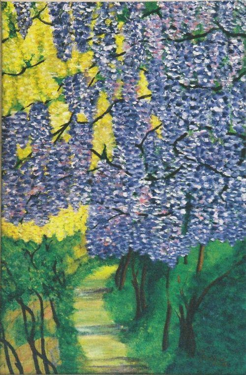 flowers hydrangeas painting