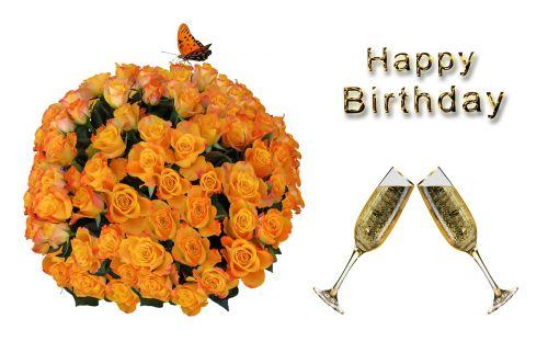 flowers birthday bouquet birthday card