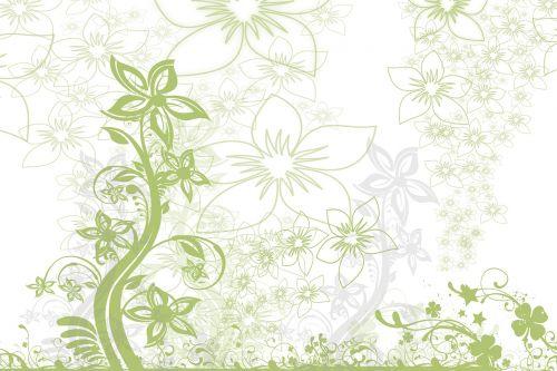 flowers curlicue kringel