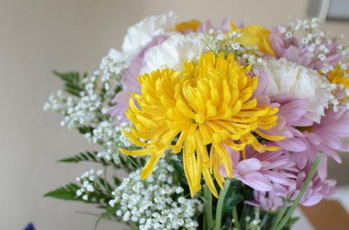 flowers bouquet yellow
