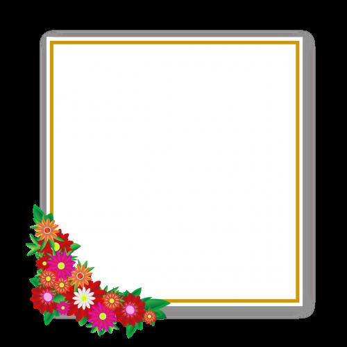 flowers sticker frame