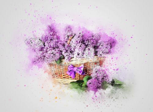 flowers lilac basket
