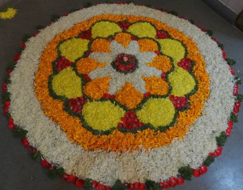 flowers rangoli indian custom