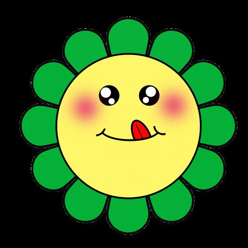 flowers cartoon cute