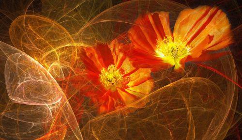 flowers orange floral composition