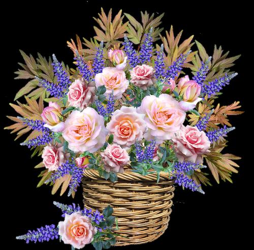 flowers  basket  arrangement