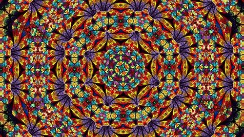 flowers  kaleidoscope art  pattern