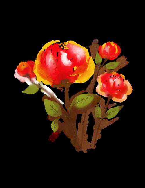 flowers  floral  aquarelle
