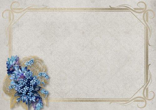 flowers  frame  paper