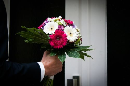 flowers bouquet ring the bell