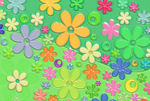 flowers retro ornament