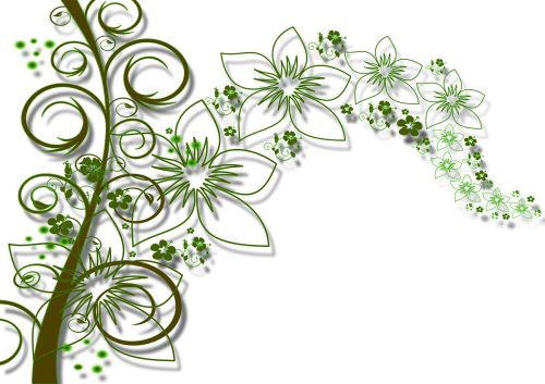 flowers kringel stalk