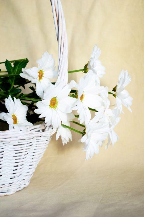 Flowers In Wicker Basket