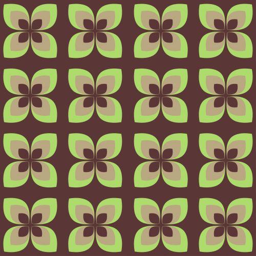 Flowers Retro 70s Wallpaper Pattern