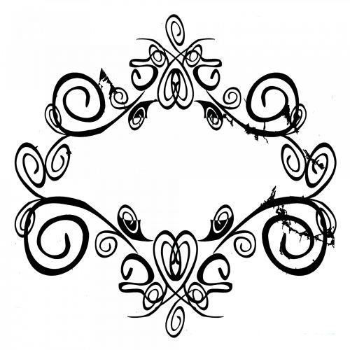 juoda, simetriškas, senas, linija, dekoruoti, figūra, dekoruoti, dizainas, menas, gėlėtas simbolis