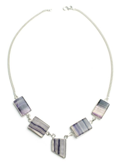 fluorite necklace stone