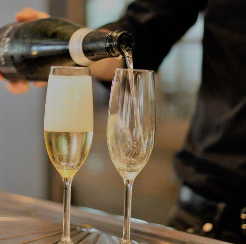flûte  champagne  cava