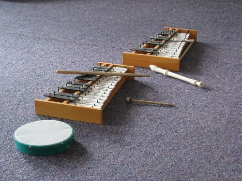 flute xylophone drumsticks