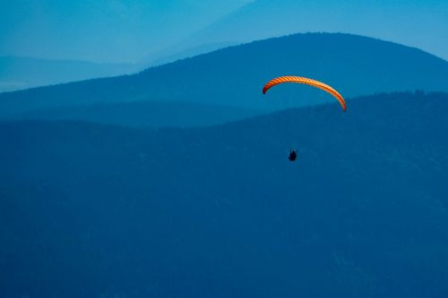 fly paragliding freedom