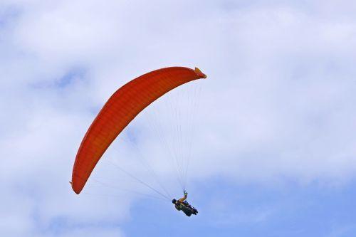 flying parachute hang glider