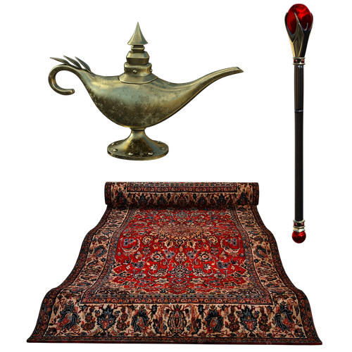 flying carpet  lamp  septure