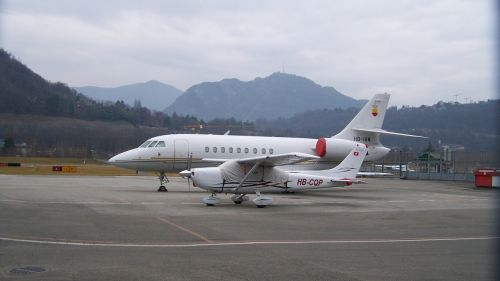 flying machines lugano airport air transport