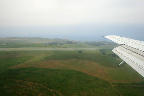Flying Over Green Hills
