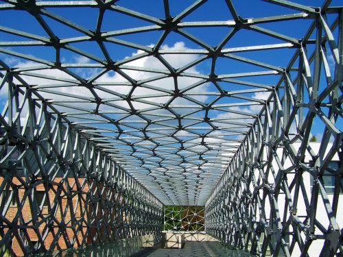 flyover the bridge connecting metal construction
