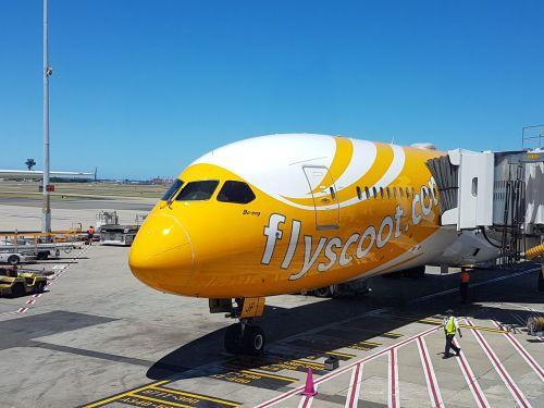 flyscoot airplane aeroplane