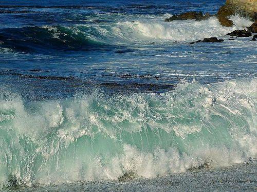 foam ocean beaches